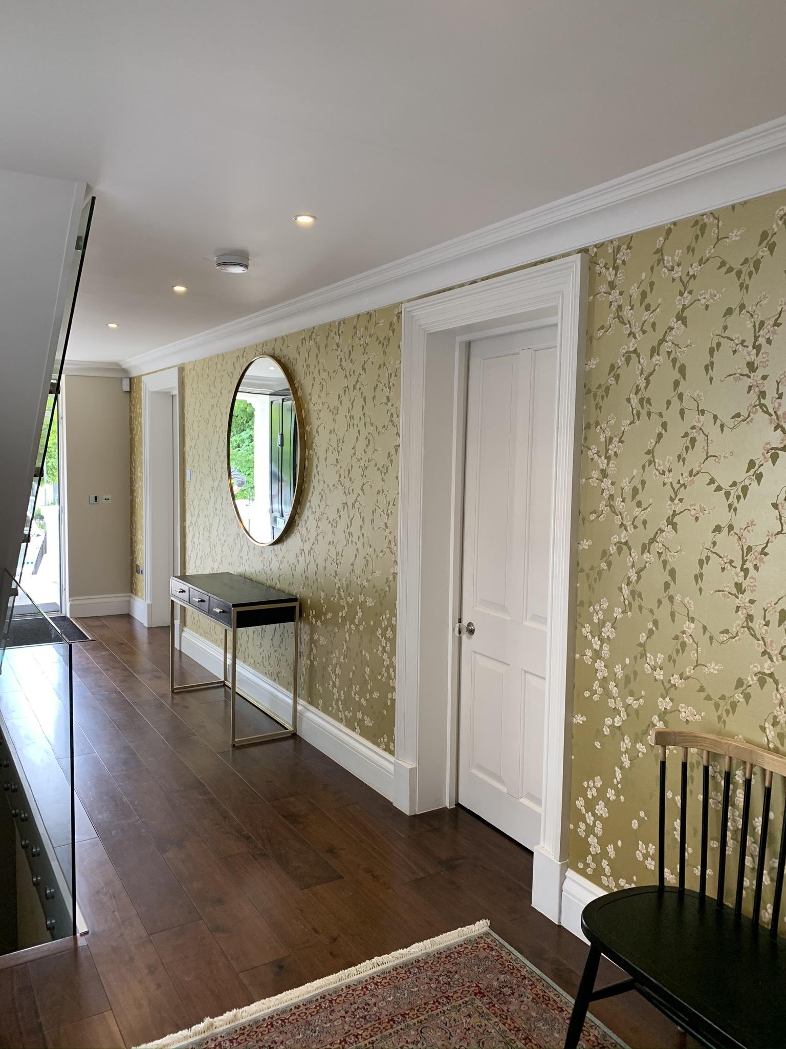 Hallway Wallpapering